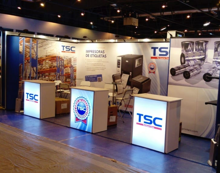 Exhibition Counter Selection available from Nomadic Display