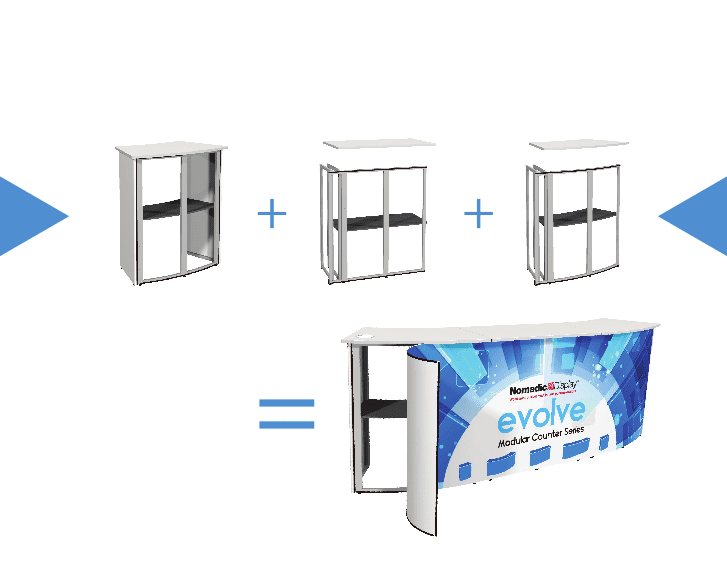 Modular Exhibition Counters from Nomadic Display